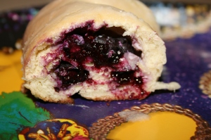 king cake blueberry