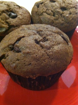 cocoa banana muffin
